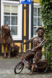 Sculptures made of metal Rietberg, Germany Royalty Free Stock Photography