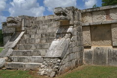 Sculptures of a Mesoamerican Mayan ruins in Yucatan, Chichen Itza, Mexico Stock Photography