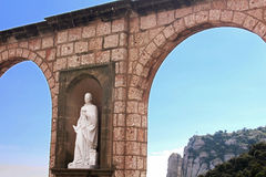 Sculptures in Montserrat Monastery Royalty Free Stock Image