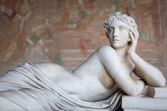 Sculptures in the Monumental Cemetery at Leaning Tower of Pisa Royalty Free Stock Photo