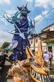 Sculptures monumentales de bois et de papier peint Images libres de droits
