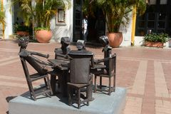 The sculptures in the Museum of modern art in Cartagena Stock Images