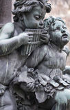 Sculptures of musicians. Around the famous beethoven monument which is located in the first district of vienna, the capital of austria royalty free stock images