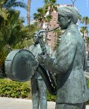Sculptures of musicians on the promenade of Torrevieja Royalty Free Stock Photography