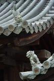 Sculptures mystiques en lion sur le toit Photos libres de droits