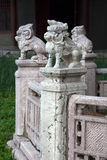 Sculptures of mythical animals in Beiling Park, Shenyang, China Stock Images