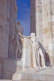 Sculptures n the Vimy Ridge memorial Stock Image