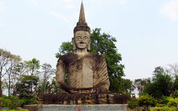 Sculptures in Nong Khai Buddha Park in Thailand Royalty Free Stock Photo