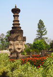 Sculptures in Nong Khai Buddha Park in Thailand Royalty Free Stock Photos