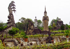 Sculptures in Nong Khai Buddha Park in Thailand Royalty Free Stock Image