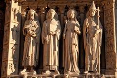 Sculptures of the Notre Dame de Paris Royalty Free Stock Images
