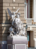 Sculptures at the Odessa Opera and Ballet Theater Royalty Free Stock Images