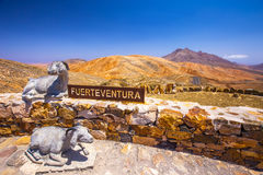 Free Sculptures On The Top Of Vulcanic Fuerteventura Mountains, Spain Royalty Free Stock Images - 79068519