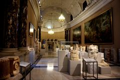 Marble ancient cultivations in one of the museums of the Hofburg Palace in Vienna royalty free stock images