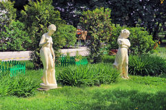 The sculptures in the park. Stock Image