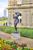 Sculptures are in the park of the Luxemburg palace. FRANCE, PARIS - April 29.2014: Ancient sculptures on the alleys of park of the Luxemburg palace in city Paris Stock Image