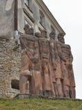 Sculptures in park of Olesko Castle Stock Photos