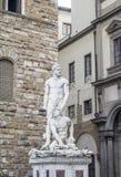 Sculptures of Piazza della Signoria. In Florence stock photo