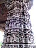 Sculptures on Pillar Stock Images