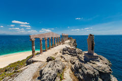 Sculptures and pillars in the Greek style on the island Fotrune, Stock Images