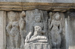 Sculptures in Prambanan Indonesia Stock Photography