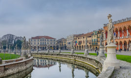 The sculptures of Prato della Valle, Padova, Italy Stock Images