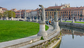 The sculptures of Prato della Valle, Padova, Italy Stock Photo