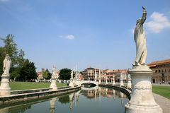 Sculptures at Prato della Valle in Padua, Italy Royalty Free Stock Photo