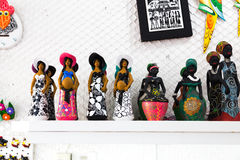 Sculptures representing the Brazilian culture very common in the northeast of Brazil royalty free stock photos