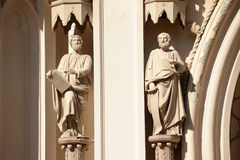 Sculptures of saints Royalty Free Stock Images