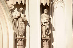 Sculptures of saints Stock Image