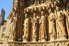 Sculptures of saints in Metz cathedral France Royalty Free Stock Photography