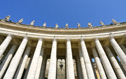 Sculptures of saints in Vatican Royalty Free Stock Photos