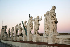 Sculptures of saints in Vatican Stock Images