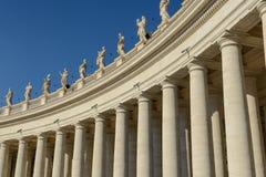 Sculptures of saints in Vatican, Rome Stock Photography