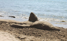 Sculptures of sand Royalty Free Stock Photo