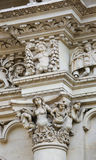 Sculptures at the Santa Croce baroque church in Lecce, Italy Stock Photography