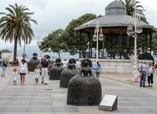 Sculptures in Santander Stock Photography