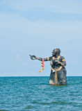 Sculptures in sea Stock Image