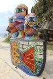 Sculptures by the sea, Bondi, Australia Royalty Free Stock Photo