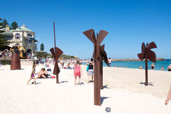Sculptures by the Sea: Cottesloe, Western Australia Royalty Free Stock Photos