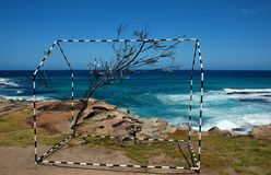 Sculptures by the Sea exhibition at Bondi beach, Sydney, Australia Stock Images