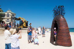 Sculptures by the Sea: Interactive Family Event Royalty Free Stock Images