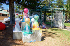Sculptures by the Sea: Sculpture in Color Stock Image