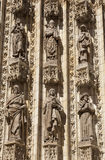 Sculptures in Seville Cathedral close up Stock Photography