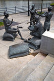 Sculptures show part of Singaporean history Royalty Free Stock Images