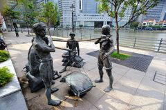 Sculptures of Singapore Royalty Free Stock Image