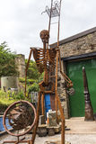Sculptures in the small village of Pott Shrigley, Cheshire, England. Stock Photo