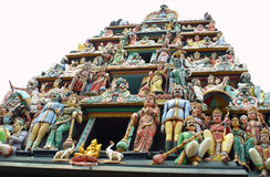 Sculptures of Sri Mariamman Temple Royalty Free Stock Image