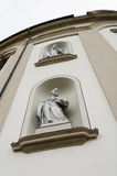 Sculptures on St Gallen abbey facade Royalty Free Stock Photography